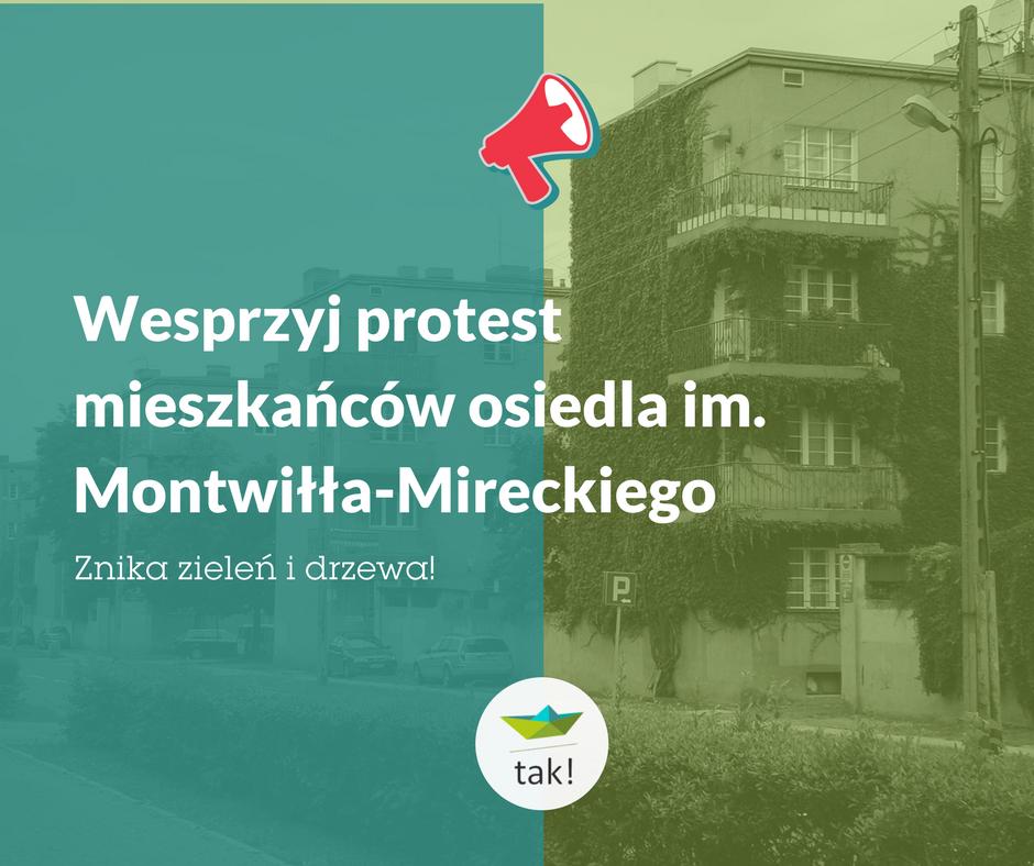 Protest mieszkańców os. im. Montwiłła-Mireckiego